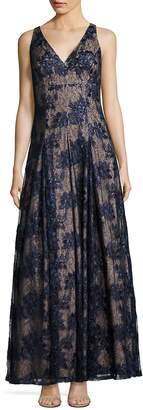 Adrianna Papell Women's Twilight Fit-&-Flare Lace Gown