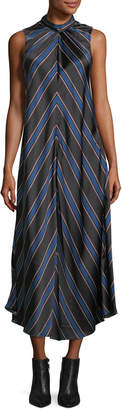 Sachin + Babi Nari Chevron-Print Sleeveless Silk Dress