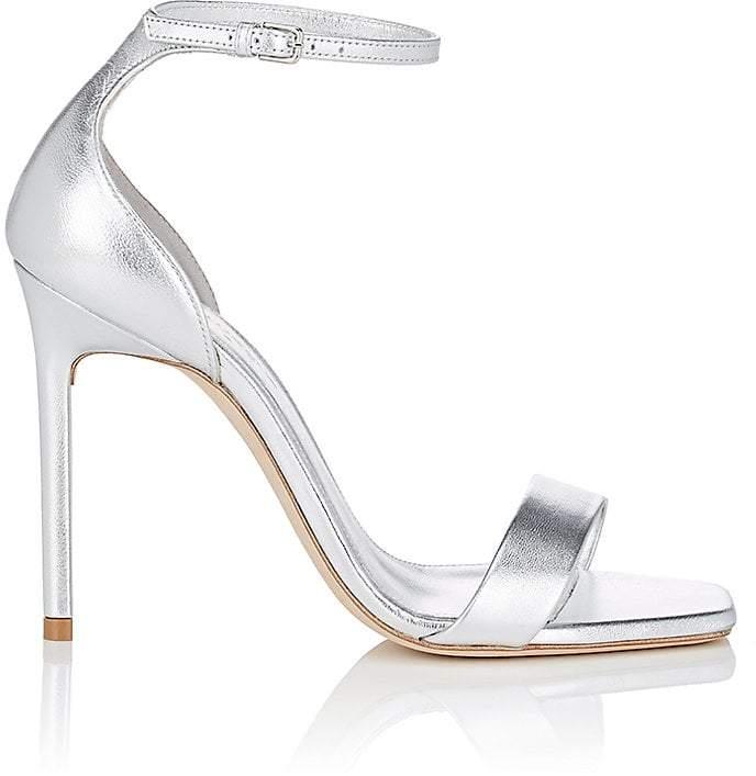 Saint Laurent Women's Amber Metallic Leather Sandals