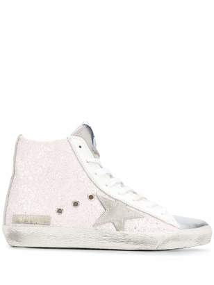 Golden Goose Francy Glitter High Top Sneakers