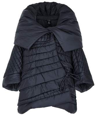 Crea Concept Navy Oversized Quilted Shell Jacket