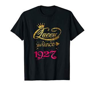 Queen Since 1927 91st Birthday Gift T-shirt for Girl Women