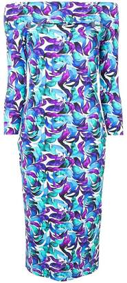 Chiara Boni Le Petite Robe Di floral off shoulder dress