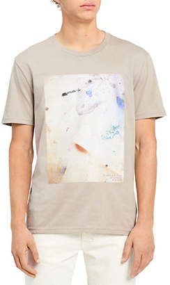 Calvin Klein Jeans Slim-Fit Splatter Block-Print Cotton Tee
