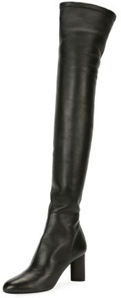 TOM FORD Stretch Combo Over-The-Knee Boot, Black