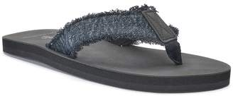 Men's Vintage Stone Denim Thong Flip-Flop Sandals