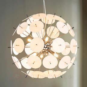 Kugel-LED-Hängelampe Lyrien m. Kunststoffelementen