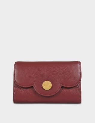 See by Chloe Polina Compact Medium Wallet in Sienna Red Lamb Skin