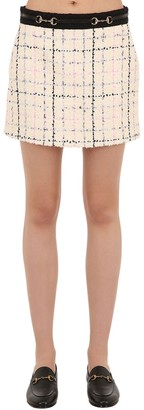 Gucci Cotton Blend Tweed Mini Skirt