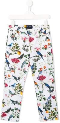 Oscar de la Renta Kids Nature printed trousers