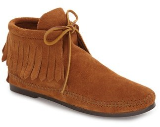 Women's Minnetonka Classic Fringed Chukka Style Boot $46.95 thestylecure.com