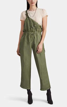 NSF Women's Dahlia Linen-Blend Overalls - Green
