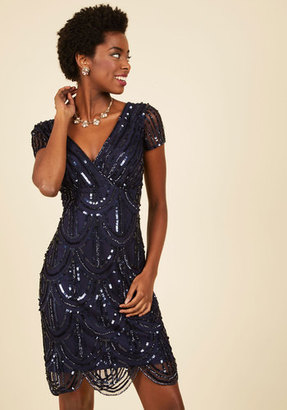 Marina Cascading Cava Sequin Dress in Midnight $174.99 thestylecure.com