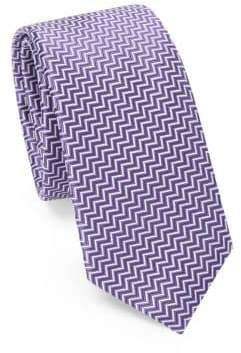 Saks Fifth Avenue MODERN Chevron Silk Tie