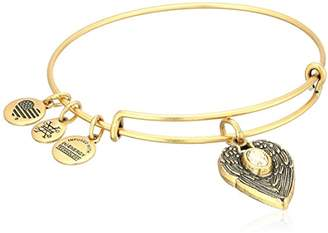 Alex and Ani Path of Symbols Guardian Angel Expandable Wire Gold Bangle Charm Bracelet