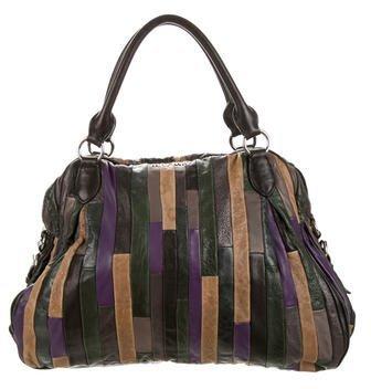 Miu MiuMiu Miu Paneled Leather Handle Bag