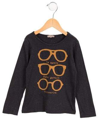 Emile et Ida Girls' Casual Long Sleeve Top