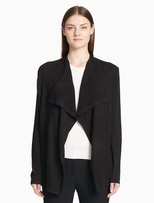 Calvin Klein textured flyaway cardigan