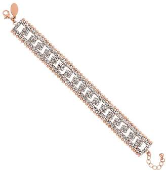 Jon Richard Rose Gold Crystal And Chain Bracelet