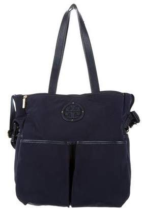 Tory Burch Leather-Trimmed Diaper Bag