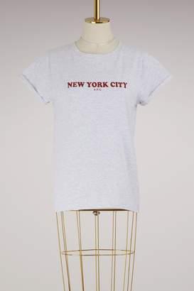 A.P.C. Cotton New York City T-shirt