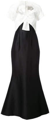 Carolina Herrera panel flared gown