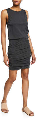 Velvet Macey Crewneck Sleeveless Shirred Mini Dress