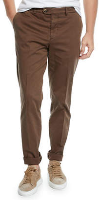Brunello Cucinelli Men's Basic Fit Chino Pants