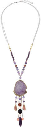 Nakamol Agate & Crystal Pendant Necklace
