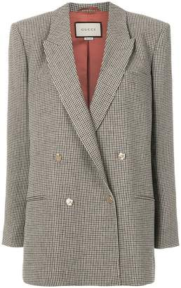 Gucci check blazer
