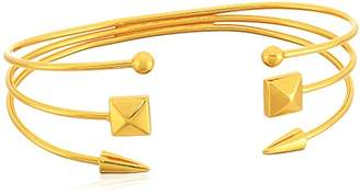 Argentovivo 3 Row SMS Cuff Bracelet