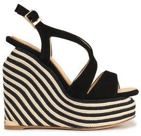 Paloma Barceló Suede Espadrille Wedge Sandals