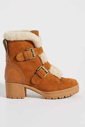 See by Chloe Shearling-Lined Heeled Boots