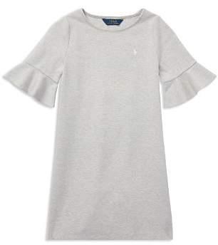 Ralph Lauren Girls' Ponte Bell-Sleeve Shift Dress - Big Kid