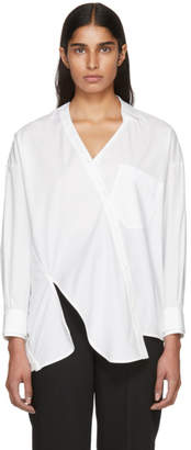 Enfold White Broad Twist Design Shirt