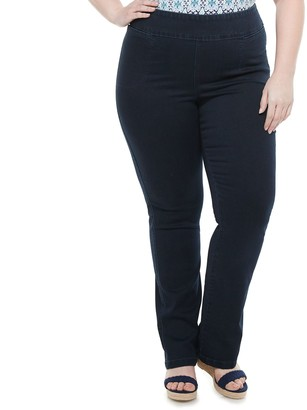 Croft & Barrow Plus Size Pull-On Mid-Rise Bootcut Jeans