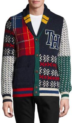 Tommy Hilfiger Wool-Blend Button-Front Cardigan