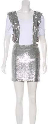 IRO Dwino Sequined Mini Overall Skirt w/ Tags