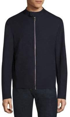 Armani Collezioni Bonded Wool Effect Microfiber Jacket
