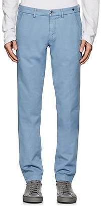 Barneys New York MEN'S COTTON TWILL CHINOS - BLUE SIZE 32