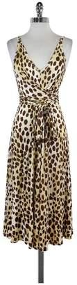 L.A.M.B. Tan & Cream Leopard Print Jersey Dress $98.99 thestylecure.com