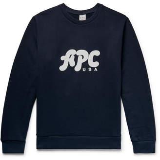 A.P.C. Gabe Logo-Print Loopback Cotton-Jersey Sweatshirt
