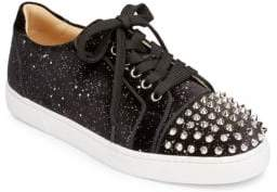 Christian Louboutin Vieira Spikes Velvet Sneakers