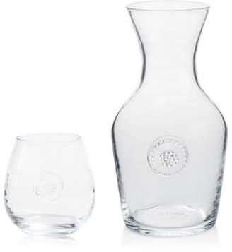 Juliska Berry & Thread Glassware Carafe & Stemless Red Wine Glass Gift Set