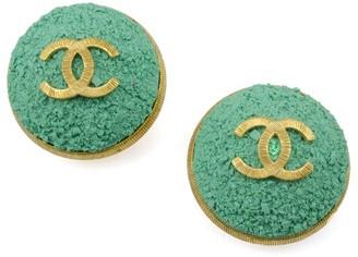 Oversized Green Earrings
