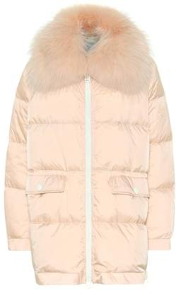 Yves Salomon Army Fur-trimmed puffer coat