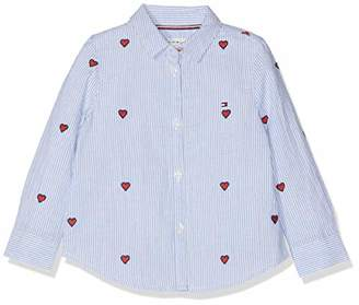 731f0c40 Tommy Hilfiger Baby Girls' Embroidered Heart Stripe Shirt Blouse, Blue 474