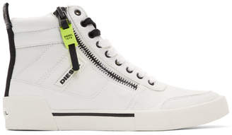Diesel White S-Dvelows High-Top Sneakers