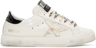 Golden Goose White Star May Sneakers $395 thestylecure.com