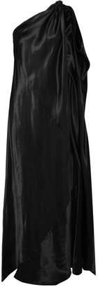 MM6 MAISON MARGIELA One-shoulder Satin Maxi Dress - Black